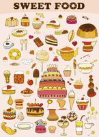 Set of vector sweets 60016012045| 写真素材・ストックフォト・画像・イラスト素材|アマナイメージズ