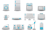 Vector illustration of Household Appliances icons. You can decorate your website, application or presentation with it.