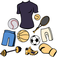Vector illustration of man accessories set related to sport life style.