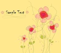 Floral card 60016012404| 写真素材・ストックフォト・画像・イラスト素材|アマナイメージズ