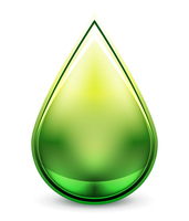 Abstract glossy vector water droplet icon