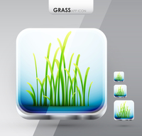 Vector nature app icon design