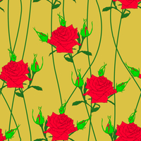 Seamless  background with flower roses. Could be used as seamless wallpaper, textile, wrapping paper or background 60016012942| 写真素材・ストックフォト・画像・イラスト素材|アマナイメージズ