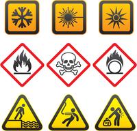 Warning symbols - Hazard Signs-Third set