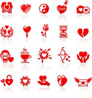 Set valentine's day red icons, love romantic symbols 60016013114| 写真素材・ストックフォト・画像・イラスト素材|アマナイメージズ