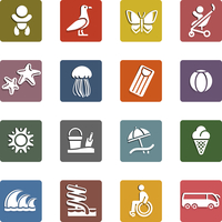 Vacation, Travel & Recreation, icons set 60016013125| 写真素材・ストックフォト・画像・イラスト素材|アマナイメージズ