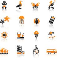 Tourism, Recreation & Vacation, icons set. 60016013152| 写真素材・ストックフォト・画像・イラスト素材|アマナイメージズ