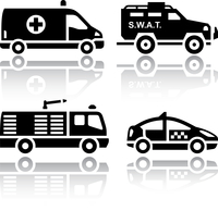 Set of transport icons - Rescue
