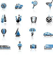 Recreation, Vacation & Travel, icons set. 60016013218| 写真素材・ストックフォト・画像・イラスト素材|アマナイメージズ