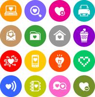 Set valentine's day buttons, love on the Internet symbols 60016013229| 写真素材・ストックフォト・画像・イラスト素材|アマナイメージズ