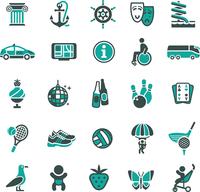 Signs. Recreation, Travel & Vacation. Fourth set. 60016013230| 写真素材・ストックフォト・画像・イラスト素材|アマナイメージズ