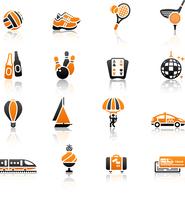 Recreation, Vacation & Travel, icons set. 60016013236| 写真素材・ストックフォト・画像・イラスト素材|アマナイメージズ