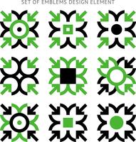 Set of emblems design element