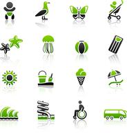 Tourism, Recreation & Vacation, icons set 60016013244| 写真素材・ストックフォト・画像・イラスト素材|アマナイメージズ