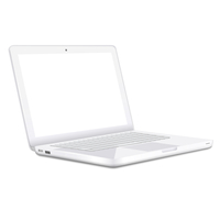 Modern white Laptop isolated on white background. Vector eps10