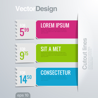 Infographics cutout lines design template. Vector high detail. Creative banner concept.