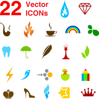 22 vector icons set