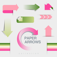 Arrows icons vector collection. Infographics elements. Creative design template.
