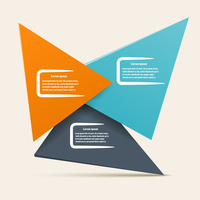 Infographic design with triangles of different colors. Vector illustration for your website.