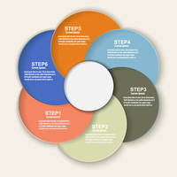 Colored banners as a an element of the circles for infographics. Template for your design. Vector illustration