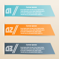 Colored paper banners for infographics. Vector illustration