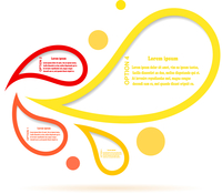 Infographics colorful bubble speech template. Vector illustration