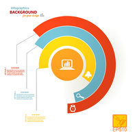 Set on a colorful infographic semicircles