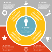 Set infographic style successful person