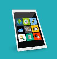 3d tablet flat concept 60016014233| 写真素材・ストックフォト・画像・イラスト素材|アマナイメージズ