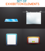 Exhibition vector design collection. For promotion of your product 60016014660| 写真素材・ストックフォト・画像・イラスト素材|アマナイメージズ