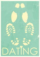 Dating. Rendezvous of lovers. Retro grunge poster 60016014991| 写真素材・ストックフォト・画像・イラスト素材|アマナイメージズ