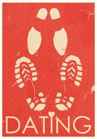 Dating. Rendezvous of lovers. Retro grunge poster 60016014992| 写真素材・ストックフォト・画像・イラスト素材|アマナイメージズ