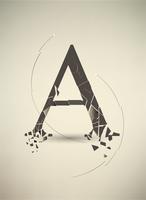 Destroyed Letter A. Retro Poster 60016014997| 写真素材・ストックフォト・画像・イラスト素材|アマナイメージズ