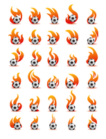 flaming football ball (soccer)
