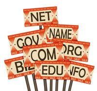 Domain names sale. Retro poster 60016015235| 写真素材・ストックフォト・画像・イラスト素材|アマナイメージズ