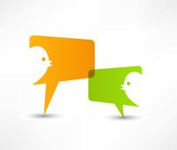 Talk, concept speech bubbles 60016015328| 写真素材・ストックフォト・画像・イラスト素材|アマナイメージズ