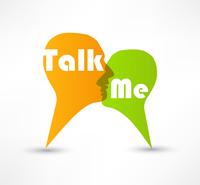 Talk me concept speech bubbles 60016015329| 写真素材・ストックフォト・画像・イラスト素材|アマナイメージズ