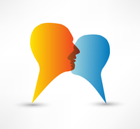 Talk me concept speech bubbles 60016015330| 写真素材・ストックフォト・画像・イラスト素材|アマナイメージズ