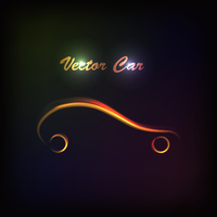 luminous silhouette car sign. 60016015394| 写真素材・ストックフォト・画像・イラスト素材|アマナイメージズ