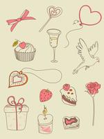 doodle hand drawn Valentine's Day  elements for design 60016015913| 写真素材・ストックフォト・画像・イラスト素材|アマナイメージズ
