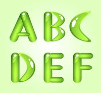 Green shiny alphabet. Part 1