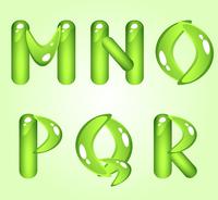 Green shiny alphabet. Part 3