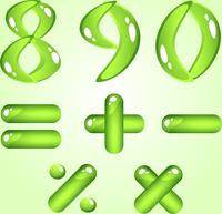 Green shiny alphabet. Digits (part 2)