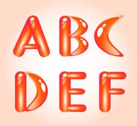 Red shiny alphabet. Part 1