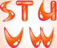 Red shiny alphabet. Part 4