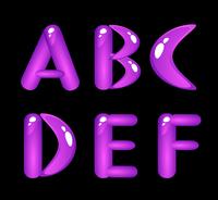 Violet shiny alphabet. Part 1