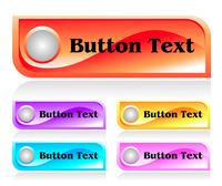 Set of shiny plastic web menu buttons 60016016545| 写真素材・ストックフォト・画像・イラスト素材|アマナイメージズ