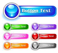 Set of shiny web menu buttons 60016016547| 写真素材・ストックフォト・画像・イラスト素材|アマナイメージズ