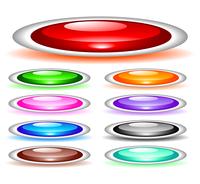 Set of shiny web menu buttons 60016016550| 写真素材・ストックフォト・画像・イラスト素材|アマナイメージズ