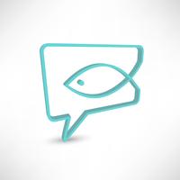 Christian religion symbol fish. Concept speech bubbles 60016016957| 写真素材・ストックフォト・画像・イラスト素材|アマナイメージズ